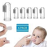 6 Stück Silikon Fingerzahnbürste Baby - Weiße Baby Zahnbürste, Silikon Fingerzahnbürste für Baby, Fingerzahnbürste für Kinder, Zahnpflege/Zahnfleischmassage/Kindermundpflege