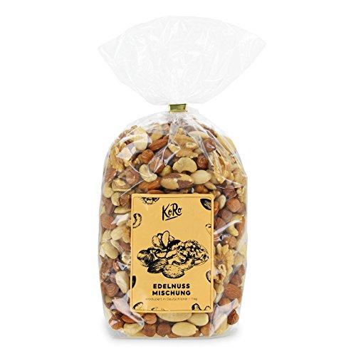 KoRo  Nussmischung  1kg  Edle Nüsse  Mandeln  Paranüsse  Cashewkerne  Walnüsse  Haselnüsse  Ohne Zucker und Salz  Vegan