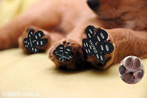 Hund Pfote Beschützer Robuste Anti Slip 24 Stücke, Selbstklebende Beständig Hund Schuhe Booties Socken Replacemen L
