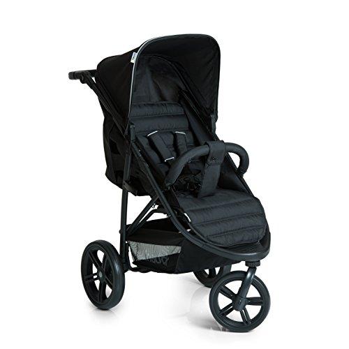 Hauck Buggy Rapid 3 Dreiradwagen, mit Liegefunktion, klein zusammenklappbar, für Kinder ab 6 Monate bis 22 kg, schwarz (Caviar Black)