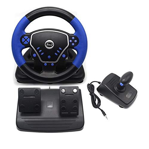 3-in-1 Gaming Vibration Racing Lenkrad 25 cm mit Pedalen Knopf USB Schnittstelle verkabelt Lenkrad für PS2 PS3 PC