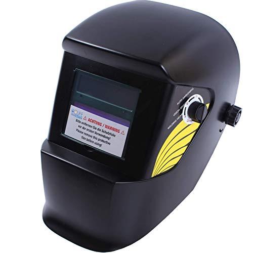 Automatik Schweißhelm Schweißmaske Schweißschirm, Farbe:Schwarz