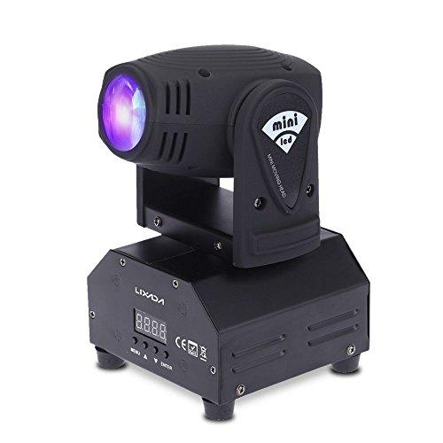 50W Moving Heads Lixada,Lichteffekt,DJ Effekt,Bühnenbeleuchtung,Party Licht,Pin Spot DMX512 RGBW/4 Steuerungsmodi,11/13 Kanäle