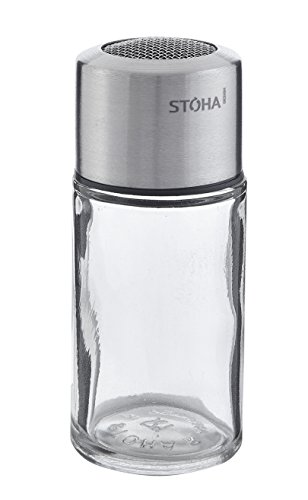 Fackelmann 55295 Stoha Kakaostreuer 11 cm, edelstahl / glas
