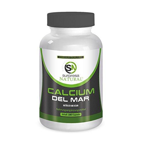 CALCIUM DEL MAR   Natürliches Kalzium aus der Rotalge   180 hochdosierte Kapseln   Premium Qualität aus Deutschland