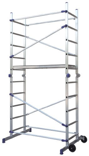 Facal Pinna Gelenkgerüst Alu Arbeitsgerüst Leitergerüst Einhand-Schnellverschluss Baugerüst belastbar bis 150 Kg Arbeitshöhe 3,78 m 8028406106401