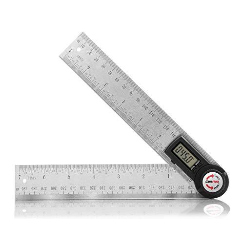 Winkelmesser,Gocheer Digitaler Winkelmesser mit Lineal aus Edelstahl,LCD Digitaler Anzeige, Länge:400mm/ 14 Zoll,360° Winkel messen,HOLD-Funktion