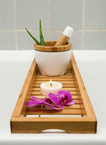 schöne Badewannenablage 70cm x 16cm , Badewannenbrett, Badewannenauflage, Badewannenaufsatz aus Bambus