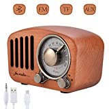 Handgemacht Walnußholz Tragbar Bluetooth Lautsprecher Qoosea Bluetooth 4.2 Drahtloser Lautsprecher mit Radio FM Natur Holz Bluetooth Lautsprechers mit Bass und Subwoofer