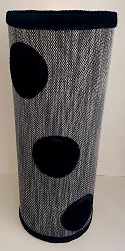 Lemio - 'Big Tub Kratztonne - Katzentonne 100 cm hoch - Katzenbaum Katzenkratzbaum Möbel für Katzen (schwarz)