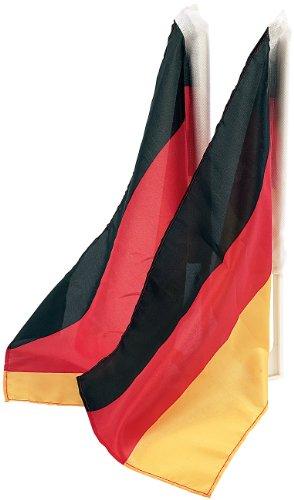 PEARL Deutschlandflagge: Autofahnen-Set 'Deutschland', 2er-Set (Deutsche Flagge)