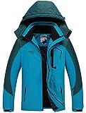 Warm Gefüttert Winterjacke Wasserdicht Atmungsaktiv Softshelljacke Herren Wanderjacke Outdoor Funktionsjacke Sport Regenjacke Blau XL