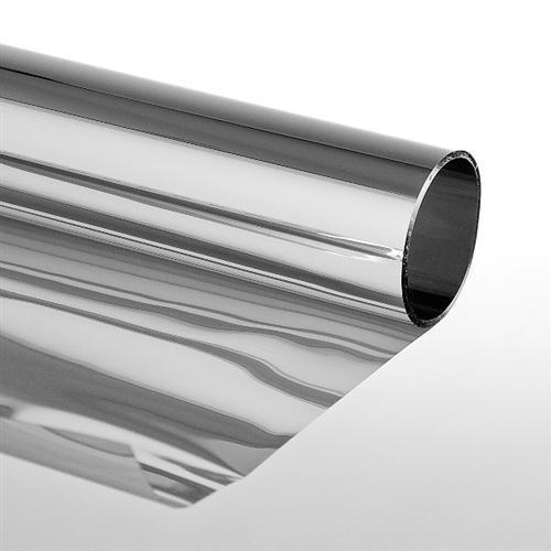 Sonnenschutzfolie 'Extrem' mit Spiegeleffekt 152 x 300 cm - Selbstklebend Silber - Spiegelfolie Fensterfolie Tönungsfolie Schutzfolie für Fenster - meterweise wählbar bis zu 30 Meter