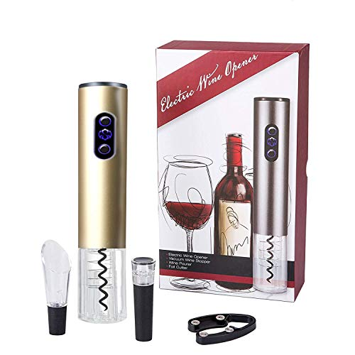 Bi-Komfort Elektrischer Korkenzieher, Elektrischer Weinöffner, Automatischer Flaschenöffner, Automatischer Weinflaschenöffner