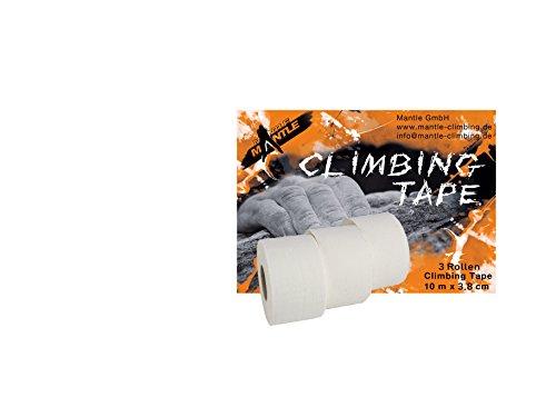 Mantle Fingertape 3 x 3, 8 cmx10m Tape, Weiß, M