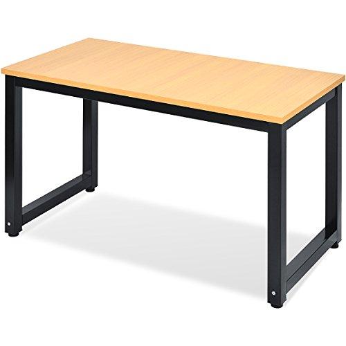 Merax Tisch Computertisch Schreibtisch Bürotisch Arbeitstisch PC-Tisch (Eiche_1)