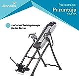 skandika Inversiontable PARANTAJA/Gravity Coach | Inversionsbank | Inversionstisch | Rückentrainer | Schwerkrafttrainer | klappbar | 4-5 Einstellungsstufen (Parantaja)