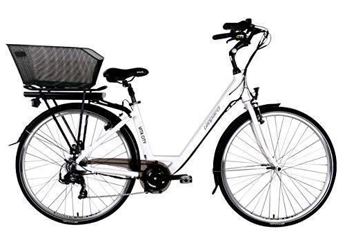 Leopard Vita City E-Bike Damen 28 Zoll 44 cm, City Elektrofahrrad, Pedelec E-Fahrrad, Weiß