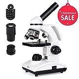 TELMU Mikroskop 40X-1000X Vergrößerung Optik Glas perfekte Geschenk für neugierige Kinder und Erwachsene