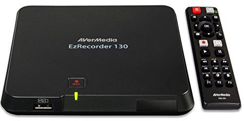 AVerMedia EzRecorder 130 – High-Definition 1080p Echtzeit-HDMI-Digital-Videorecorder, PVR, DVR, Zeitplan Aufnehmen, Aufzeichnungsformat MP4 (H.264 / AAC) unterstützt, Leicht and Tragbar, Benutzerfreundliches Setup-System - nur 1 USB Erforderlich (ER130)