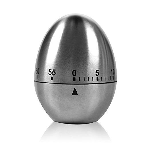 """Zeitmesser Küche Kasos Kurzzeitmesser magnetisch """"Ei"""" Küchentimer Eiförmige lustige Eieruhr Edelstahl rostfrei Kurzzeitwecker küche mit Stoppuhr Handwäsche"""