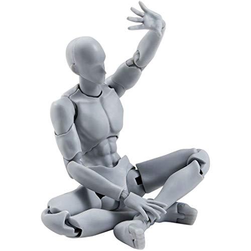 AMhomely 1 Satz Action Figure Modell, männlich/weiblich Action Figure Set Körper PVC-Puppe mit Zubehör-Kit zum Zeichnen, Skizzieren, Malen, Künstler, Jugend Jersey Cartoon (A)