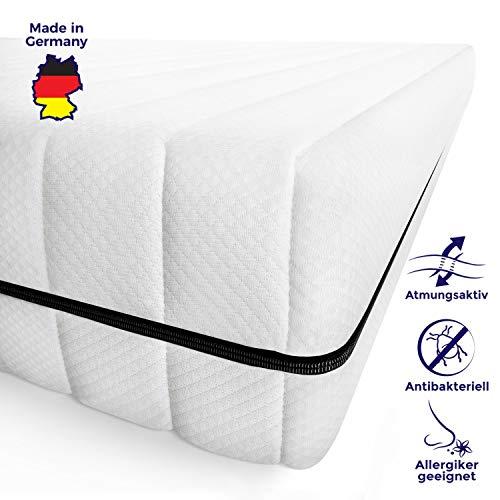 Mister Sandman schadstofffreie 7-Zonen-Matratze für gesunden Schlaf - Kaltschaummatratze mit Liegezonen und pflegeleichtem Matratzenbezug, H2&H3, Höhe 15cm (140 x 190 cm, Premium Doppeltuchbezug)