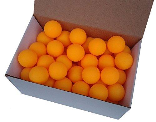 Der Sportler 75 Tischtennisbälle 38mm Ohne Aufdruck Orange stabiles Material