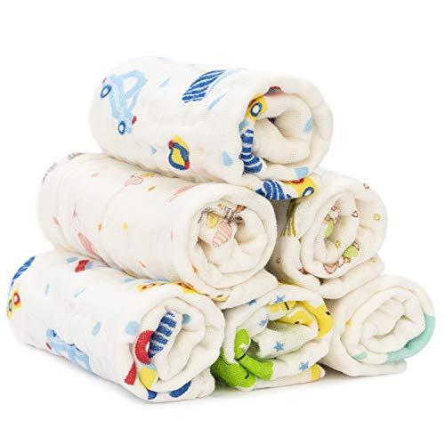 Adorel Baby Musselin Tücher Spucktuch Waschlappen Baumwolle Mix 12er-Pack