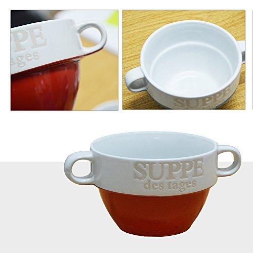 6er Set Suppentasse Suppen Tasse Suppenschüssel Schüssel Suppenterrine Landhaus