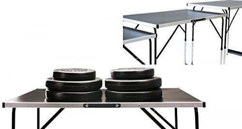 Tapeziertisch MASTER 3- teilig, 100 x 60 cm, Klapptisch als Multifunktionstisch nutzbar, Stahlrohrgestell, Gewicht 12 kg, höhenverstellbar mit Ausziehfunktion