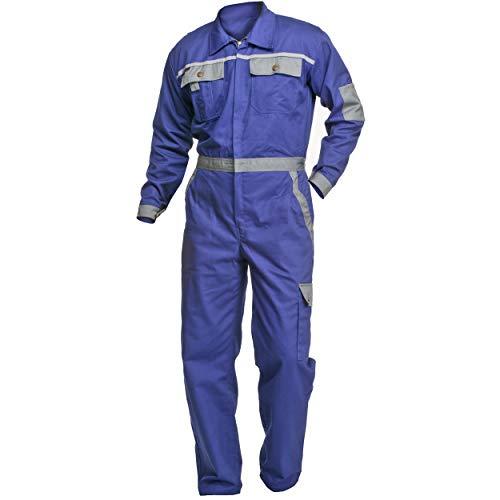 Arbeitsoverall Charlie Barato Profi Line  kornblau/grau - Overall für Handwerker Größe 54