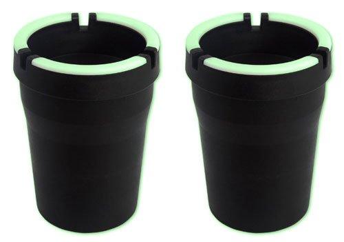2 Stück Sturmaschenbecher Anti-Geruch- Windaschenbecher Glow in the Dark mit Leucht Rand