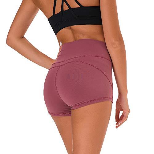 SKYSPER Damen Sporthose Kurz Fitness Shorts Hot Pants Hose Schnell Trocken Fitnesshose Yogahose Hohe Elastizität S-L