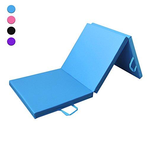 Sportmatte klappbar, 180cm 3-fach faltbare Fitnessmatte und Gymnastikmatte für Zuhause, ideal als Turnmatte oder als weiche Yogamatte und Trainingsmatte; 180 cm lang * 60 cm breit * 5 cm dicke