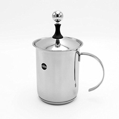 Cilio 0000550023 Cappuccino Creamer 'Classic 6 Tassen, Edelstahl, Silber, 13,4 x 14,2 x 23,4 cm, 23