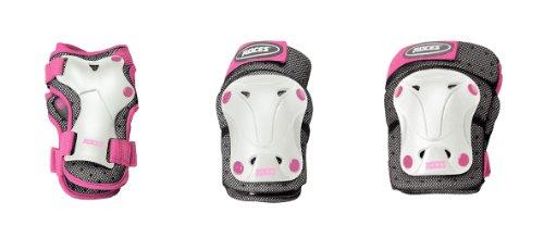Roces Jungen 3 Pack Schützer Ventilat Schutzset, White/pink, One Size