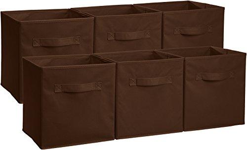 AmazonBasics - Aufbewahrungsboxen in Würfelform, faltbar, 6er-Pack, Grau