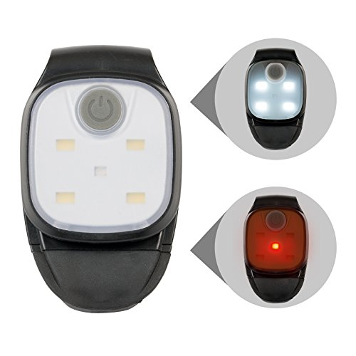 Kopflampe Jogginglampe Lauflampe Cliplampe Sicherheitslicht | für Schulkinder Radfahrer Spaziergänger Walker Läufer Jogger, weiße und rote LED wählbar