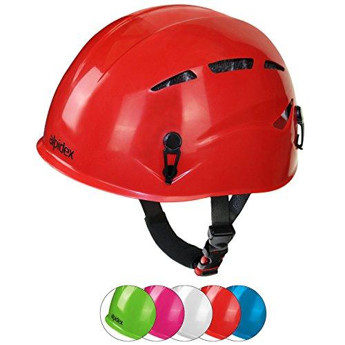 ALPIDEX Universal Kinder Kletterhelm robust und sicher - geeignet für Kopfumfang 47-54 cm, Farbe:Turquoise