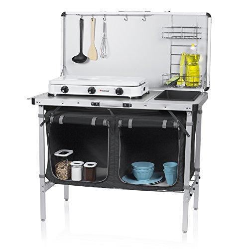 Campart Travel KI-0757 Outdoor Küche Granada – Komplettküche – Aufbewahrungstasche inklusive
