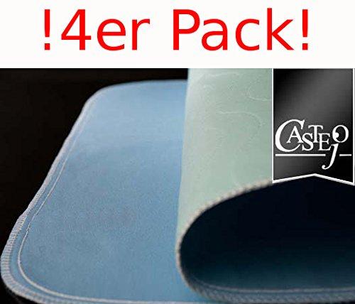 !4er PACK Castejo Inkontinenzunterlage 90x75cm blau/grün o. blau/weiß CA3302/C Inkontinenzauflage waschbar nur 1xPorto