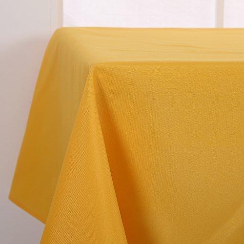 Deconovo Tischdecke Wasserabweisend Tischdecke Lotuseffekt Tischtücher 130x280 cm Dunkelbraun