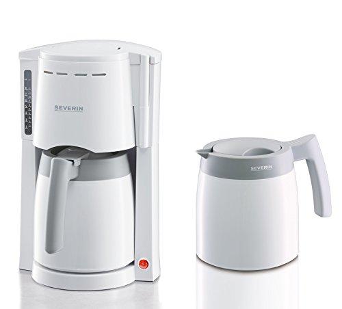 Severin KA 9233 Kaffeeautomat mit 2 Thermokannen, weiß/grau