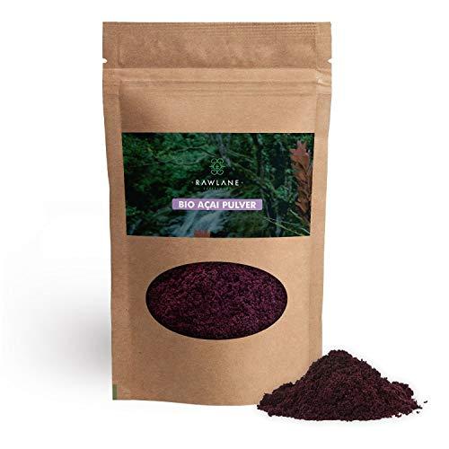 Acai Beeren Pulver Bio 250g | Gefriergetrocknetes Acaipulver aus kontrolliert biologischem Anbau | Ohne Zusätze | Reich an Antioxidantien | Vegan | Superfood von Rawlane