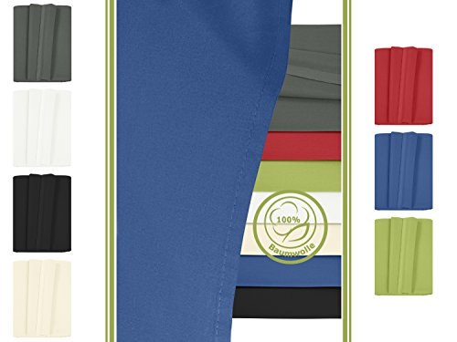 Betttuch - Haustuch - Bettlaken - aus 100% Baumwolle in 7 ausgesuchten Farben - Laken ohne Gummizug - Einheitsgröße von ca. 150 x 250 cm, royal