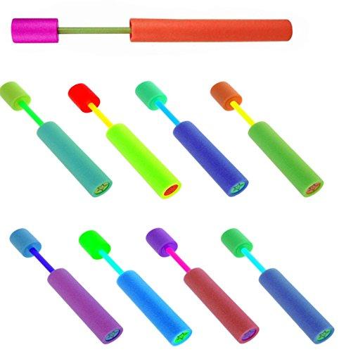 8 Stück Poolkanone Wasserpistole 36 cm Wasserspritze Wasserkanone Poolkanonen Spritzt bis zu 7 Meter weit, Wasserspielzeug Strand Spielzeug Poolkanone Schaumstoff Wasserspritzpistole STAR-LINE