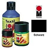 Marabu 171605073 Textilfarbe 'Textil', schwarz, 50 ml, im Glas