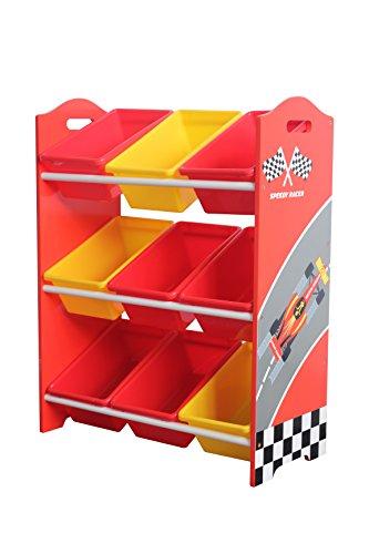 GardenMarketPlace Speedy Racer-Spielzeugregal - Patentierte Grafiken