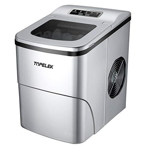 Eiswürfelmaschine für den Einsatz auf einem Tisch/Thekenplatte, Tragbare, kompakte elektrische Eiswürfelmaschine, produziert Eis in 6 Minuten, b12 Kilogramm (12 lbs.)